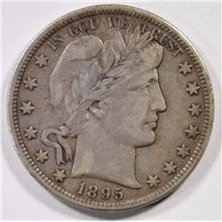 1895-O BARBER HALF DOLLAR  VF-XF