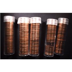 5-MIXED DATE ROLLS 1965,66 & 67 SMS LINCOLN CENTS