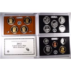 2012 U.S. SILVER PROOF SET IN ORIG BOX/COA