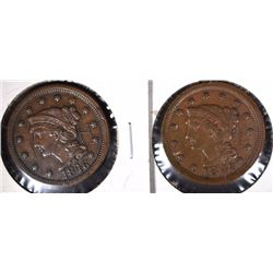 1846 & 1847 LARGE CENTS VF/XF