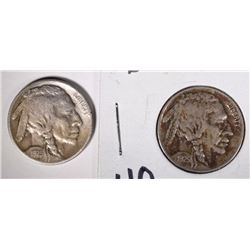 1925-D & 1925-S BUFFALO NICKELS - FINE