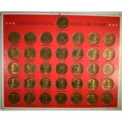 PRESIDENTIAL HALL of FAME MEDALS 36 COINS