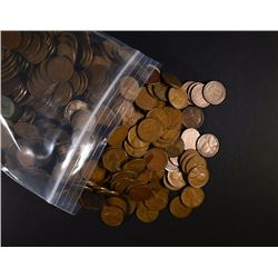 1000 Mixed 1930's Circulated Wheat Cents