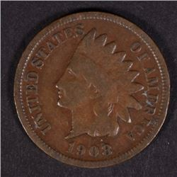 1908-S INDIAN HEAD CENT  VG+