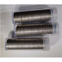 "3-ROLLS OF CIRCULATED LIBERTY ""V"" NICKELS"