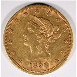 1898 $10 GOLD LIBERTY XF/AU