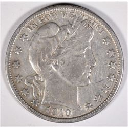 1910 BARBER HALF DOLLAR  XF