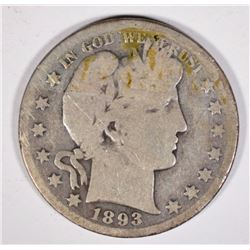 1893-S BARBER HALF DOLLAR  GOOD
