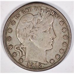 1912-D BARBER HALF DOLLAR ORIGINAL XF
