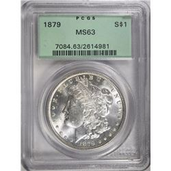 1879 MORGAN DOLLAR PCGS MS63