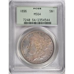 1896 MORGAN DOLLAR PCGS MS64