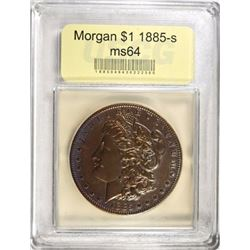 1885-S MORGAN DOLLAR USCG CH/GEM BU