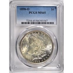 1898-O MORGAN DOLLAR PCGS MS65