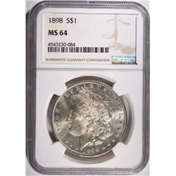 1898 MORGAN DOLLAR NGC MS64