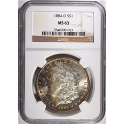 1884-O MORGAN DOLLAR NGC MS63