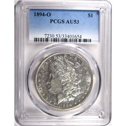 1894-O MORGAN DOLLAR PCGS AU53