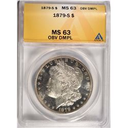 1879-S MORGAN DOLLAR ANACS MS63