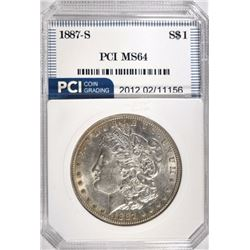 1887-S MORGAN DOLLAR PCI CH/GEM BU