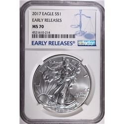2017 AMERICAN SILVER EAGLE NGC MS70