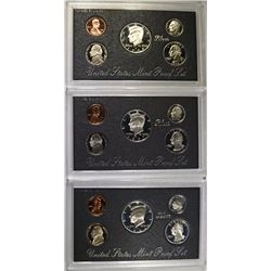 1994, 1997 and 1998 Silver Proof Sets