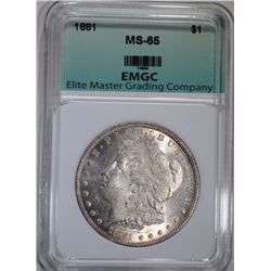1881 MORGAN DOLLAR EMGC GEM BU