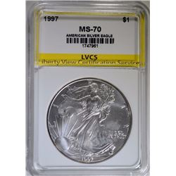 1997 AMERICAN SILVER EAGLE LVCS PERFECT