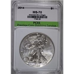 2014 AMERICAN SILVER EAGLE PCSS PERFECT