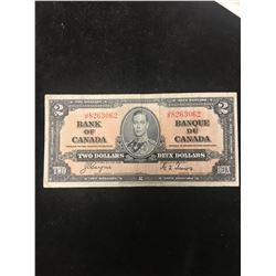 1937 BANK OF CANADA $2 NOTE!