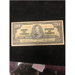 1937 CBANK OF CANADA $20 NOTE!
