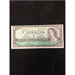 1954 BANK OF CANADA $1 SOLID NUMBER RADAR NOTE!