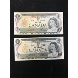 1973 BANK OF CANADA EAX REPLACEMENT NOTES! LOT OF 2 NOTES!