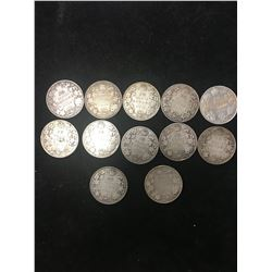 CANADA 50 CENTS LOT OF 12 COINS! EDWARD &GEORGE !1910-1919!