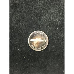 1967 CANADA 10 CENTS!PL SUBERB TONING!