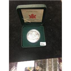 2000 CANADA PROOF SILVER DOLLAR!