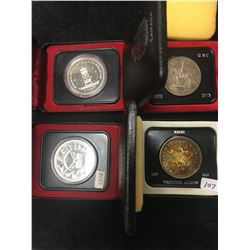 CANADA SILVER DOLLAR LOT!1971,1973,1977,1978 CASED!