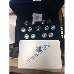 1992 CANADA 13 COIN STERLING SILVER QUARTER SET!