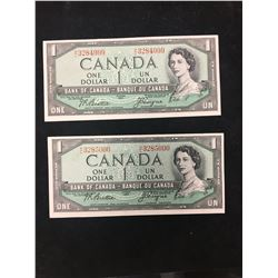1954 BANK OF CANADA $1 ROLLOVER NOTES!