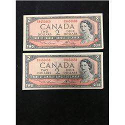 1954 BANK OF CANADA $2 ROLLOVER NOTES!
