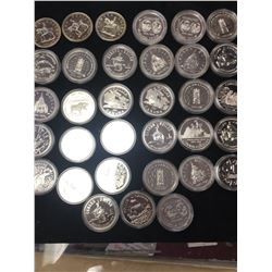 CANADA .500 SILVER DOLLAR LOT OF 33 DOLLARS!