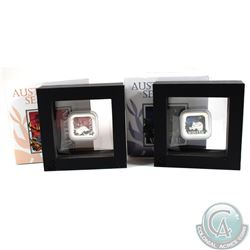 2x 2013 Australian Seasons 1oz Fine Silver Proof Square Coins. You will receive Autumn & Winter. 2pc