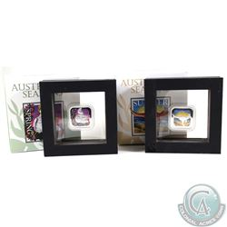 2x 2013 Australian Seasons 1oz Fine Silver Proof Square Coins. You will receive Spring & Summer. 2pc