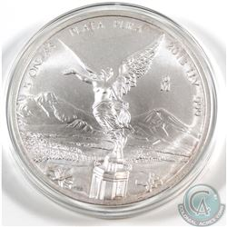 2013 Mexico 5oz .999 Fine Silver Libertad in Capsule (coin lightly toned). TAX Exempt