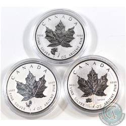 Lot of 3x 2017 Canada 1oz Fine Silver Privy Mark Coins in Capsules - Cougar, Canada 150th & Rooster