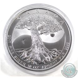 2017 Canada 10oz Tree of Life .9999 Fine Silver Coin (capsule lightly scratched). TAX Exempt