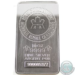 Royal Canadian Mint 10oz .9999 Fine Silver Bar (TAX Exempt)