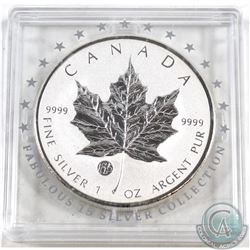 2010 Canada $5 Fabulous 15 Privy .9999 Fine Silver Maple Leaf in Capsule (coin is lightly toned & ca