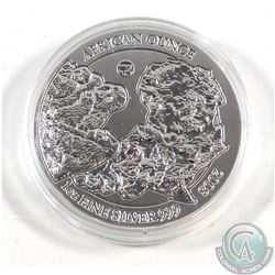 *RARE* 2008 Rwanda 1oz .999 Fine Silver Gorilla Fabulous 12 African Ounce in Capsule (very light ton
