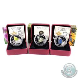 Lot of 3x 2013-2015 Canada $20 Butterflies of Canada Fine Silver Coins - 2013 Canadian Tiger Swallow