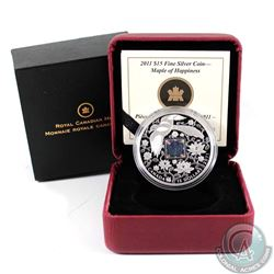 2011 Canada $15 Maple Hologram - Maple of Happiness Fine Silver Coin (TAX Exempt)