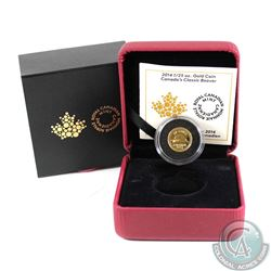 2014 50-cent Canada's Classic Beaver 1/25oz Pure Gold Coin (TAX Exempt)